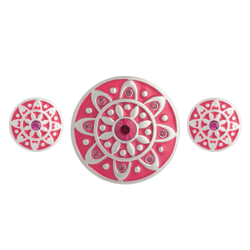 Fuchsia Emblem Statement Set